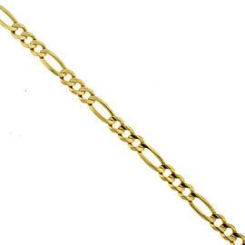 14k Yellow Gold Men's Figaro Chain Bracelet