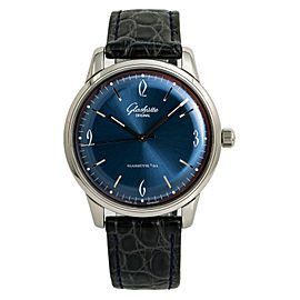 Glashutte Sixties 1-39-52-06-02-04 Men's Automatic Watch SS Blue Dial 39MM