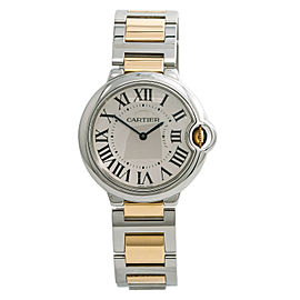 Cartier Ballon Bleu 3005 W69008Z3 Unisex Quartz Watch 18k Two Tone YG 36MM
