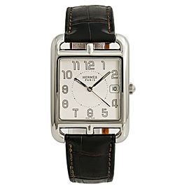 Hermes Cape Cod CC1.810 Mens Quartz Watch Silver Dial Stainless Steel 33mm