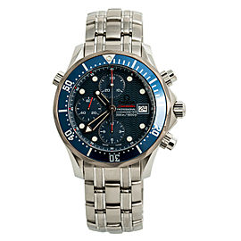 Omega Seamaster Chronograph Blue 2225.80.00 Mens Automatic Watch Stainless 41mm