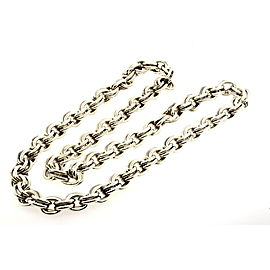 "Tiffany & Co. Double Oval Link Chain Necklace 30"" Sterling Silver"