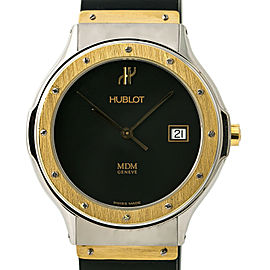 Hublot Classic 1523.2 18k Men's Quartz Watch Stainless Steel Rubber Band 36MM