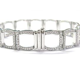 "Tiffany & Co Platinum 324 Round Diamond Square Bracelet 7"" 6.00Ct"