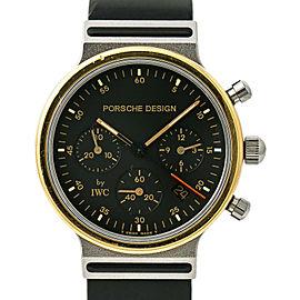 IWC Porsche Design 3720 Mens Quartz Watch Chronograph 18k Two Tone SS 32mm