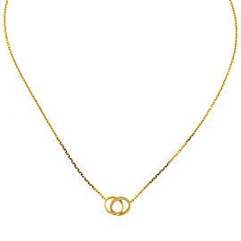 Cartier 18k Yellow Gold Diamond Interlocking Love Necklace