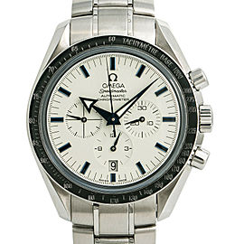 Omega Speedmaster Broad Arrow Blue Hands White Dial 3551.20.00 Automatic 42mm