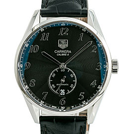 Tag Heuer Carrera Calibre 6 WAS2110 Mens Automatic Watch Black Dial SS 39mm