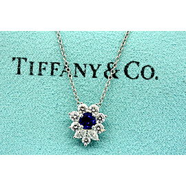 Tiffany & Co. Victoria Sapphire Diamond Pendant Necklace Rare