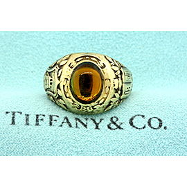 Tiffany & Co. Antique 14k Gold 1930 Class Ring Military Navy Yellow Stone size 9