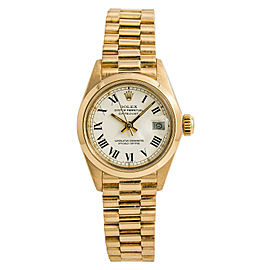 Rolex Datejust President 6916 Womens Automatic Watch Buckley White 18K Gold 26mm
