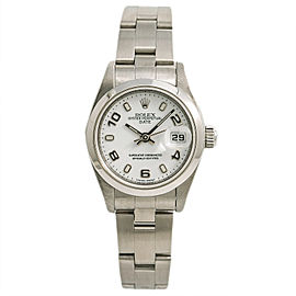 Rolex Date 79160 2001 Womens Automatic Watch White Dial Stainless Steel 26mm