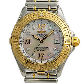 Breitling Cockpit D67365 Womens Quartz Watch Mop Dial Two Tone SS 31mm
