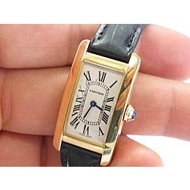 Cartier 18K Yellow Gold Tank Americaine Lady's Quartz Watch 2482