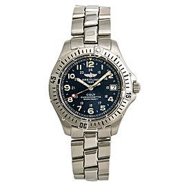 Breitling Colt A74350 Unisex Quartz Watch Blue Dial Stainless Steel 38mm