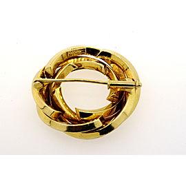 """Tiffany & Co. 14k Germany Circle Pin Brooch Woven Braided 1.25"""" Heavy 13.3g"""