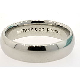 Tiffany & Co. Platinum 6mm Wedding Band Ring sz 11 Vintage