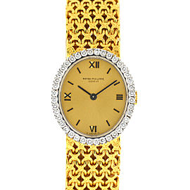 Patek Philippe 4178 18k Yellow Gold Diamond Ellipse Manual Wind Vintage Watch