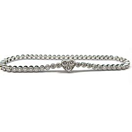 TIFFANY & CO HEART Platinum 1.97ct 58 DIAMOND LINE BRACELET
