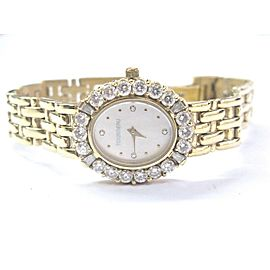 Tourneau 17mm Mother of Pearl Dial 2.30Ct Diamond Yellow Gold Womens Watch