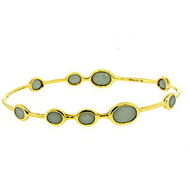 Ippolita Rock Candy Lollipop Bangle Bracelet 18k Yellow Gold Blue Aquamarine