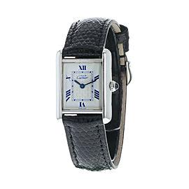 Cartier Tank 2416 Women Quartz Watch 925 Off-White Dial 22mm Roman Numerals