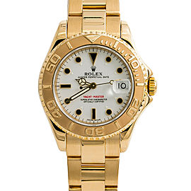Rolex Yacht-Master 68628 Unisex Automatic Watch White Dial 18K Yellow Gold 35mm