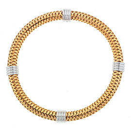 Roberto Coin 18k Rose Gold Primavera 4 Station Flexible Bangle Bracelet