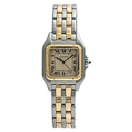 Cartier Panthere 187949 Midsize Womens 18K Yellow Gold SS Quartz Watch 27mm