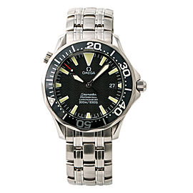 Omega Seamaster 2054.50.00 Mens Automatic Watch Black Dial SS 41mm
