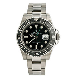 Rolex GMT Master II 116710LN Ceramic Men Watch Automatic Stainless Black 40mm