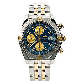 Breitling Chronomat Evolution B13356 Men Watch Automatic 18k Two Tone 43mm