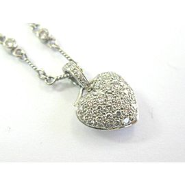 Tiffany & Co Platinum Heart Diamond & Twist Chain Necklace 1.52Ct 16""