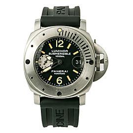 Panerai Luminor Submersible PAM00064 Men Automatic Watch Black Tritium Dial 44mm