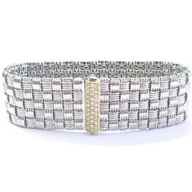 Roberto Coin 18Kt 5-Row 2-Tone Appassionata Diamond Bracelet .39Ct