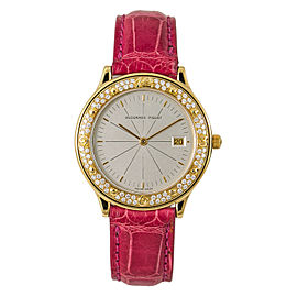 Audemars Piguet Meridian Rare Women's Quartz Factory Diamond Watch 18K Gold 33mm