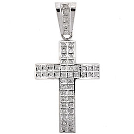 14kt White Gold And Diamond Cross Pendant