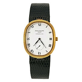Patek Philippe Tiffany Golden Ellipse Classic 3987 Hand Wind Watch 18K YG 27mm
