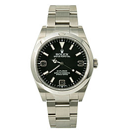 Rolex Explorer 214270 Men's Automatic Watch Box & Paper Stainless 39mm