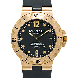 Bvlgari Diagono Scuba Diver SD38G Men's 18K Yellow Gold Automatic Watch 38mm