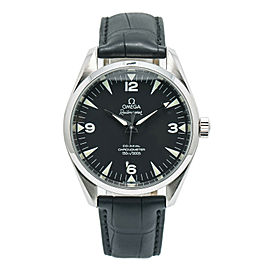 Omega Railmaster Aqua Terra 2502.52 Men's Automatic Black Dial Watch SS 42mm