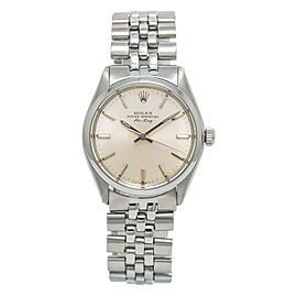 Rolex Air-King Vintage 5500 4.0 Million Serial Men's Automatic Steel Watch 34mm