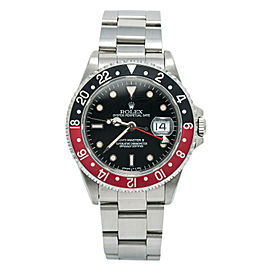 Rolex Coke GMT Master II 16710 W Serial Men's Auto Watch SS Tritium Dial 40mm