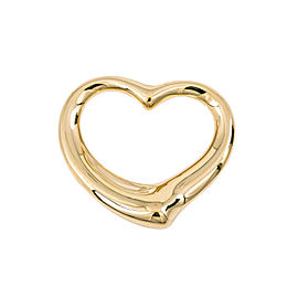 Tiffany & Co. Elsa Peretti 18K Yellow Gold Heart Pendant 35 mm 10.6 Grams