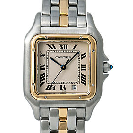 Cartier Panthere 1100 W25028B5 Unisex Quartz Watch Two Tone 18K YG 27mm