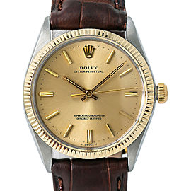 Rolex Vintage Oyster Perpetual 1005 1.4 Million Serial Men Automatic Watch 34mm