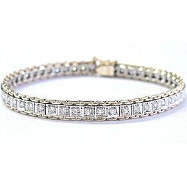 "Round Cut Diamond Two-Tone Tennis Bracelet 50-Stones 1.50Ct 7"" H-VS2"