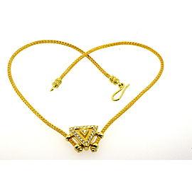 Mapamenos Natepas Greek 2ct Diamond Set Necklace Earrings 18k Yellow Gold