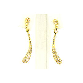 Tiffany & Co. Peretti Diamond Tear Drop Earrings Elongated Long 18k Yellow Gold