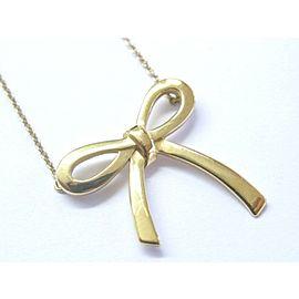 Tiffany & Co 18Kt Bow Medium Size Necklace